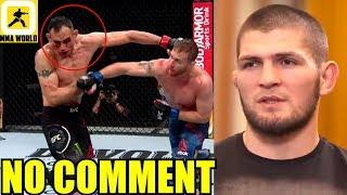 MMA Community Reacts to the beatdown in Tony Ferguson vs Justin Gaethje,UFC 249 Results