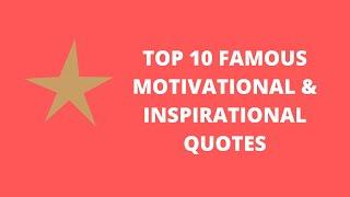 top 10 motivational quotes for success in life in English
