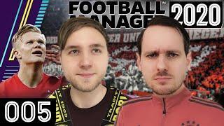 Top-Spiel FCB vs. BVB & Top-Talent Haaland im Visier   Football Manager 2020 mit Tobi & Sandro #05