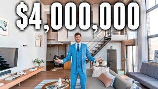 NYC Apartment Tour: $4 MILLION Custom Brooklyn LOFT