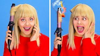 SHORT HAIR AND LONG HAIR PROBLEMS || Everyday Hair Problems And Funny Situations by 123 GO!