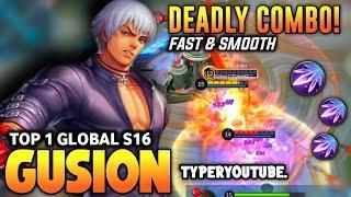 Top 1 Global Gusion S16, Insane Dagger Control, Fast Hand | Gusion Gameplay | MLBB✓