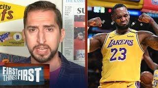 "First Thing First | Nick ""impressed"" List of LeBron top 10 playoff game wonderful, proving King NBA"