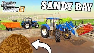 MUCKING OUT, NEW TOOLS AND PAYDAY! | Sandy Bay Farming Simulator 19 - Episode 6