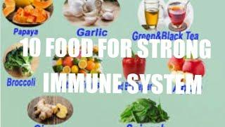 TOP 10 FOODS THAT WILL BOOST IMMUNE SYSTEM