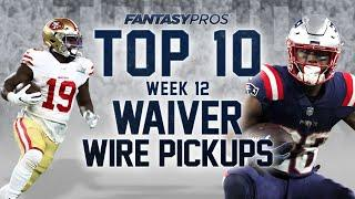 Top 10 Week 12 Waiver Wire Pickups (2020 Fantasy Football)