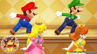 Mario Party 9 Step It Up - Mario vs Peach vs Luigi vs Daisy (Master Difficulty)