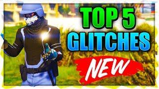 TOP 5 GLITCHES (Secret Location, Invisible Body, Rare Clothing Glitch and More!) GTA 5