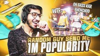 RANDOM GUY SEND 1MILLION + POPULARITY | INTENSE BOOTCAMP ONLY | BABAOP | PUBG MOBILE