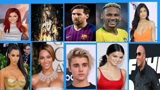 Top 10 people with most amount of followers on instagram