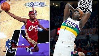 LeBron James or Zion Williamson: Who had better athleticism at age 19? | NBA Countdown