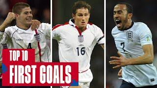 GERRARD, LAMPARD, BARNES | Top 10 First Goals Scored by England Stars | England