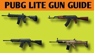 PUBG LITE GUN GUIDE || PUBG MOBILE LITE TOP GUN ALL INFORMATION | FIRE RATE !DAMAGE,RELOADING TIME
