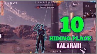 TOP 10 HIDING PLACE IN KALAHARI MAP || FREE FIRE|| PINUGAMER