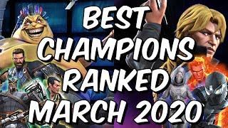 Best Champions Ranked March 2020 - Seatin's Tier List - Marvel Contest of Champions