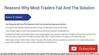 Top 10 Reasons Traders Fail In The Long Run Video Course Pt. 2 #demotradingroomschool