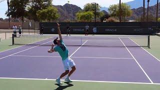 Dominic Thiem Serve & Return Training Court Level View - ATP Tennis Return + Tennis Serve Technique