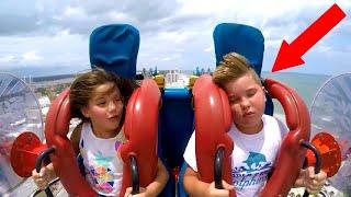he couldn't hold on to roller coaster..