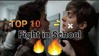 Top 10 school fight scenes in movies /school fighting scenes #satisfya
