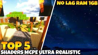 Top 5 Shaders MCPE No Lag Ram 1GB-2GB | Support MCPE 1.14/1.15/1.16 [Android,IOS,And Windows 10]