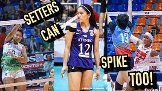 TOP 10 EPIC SPIKES by the SETTERS | WOMEN'S VOLLEYBALL | PSL• PVL • SVL • UAAP