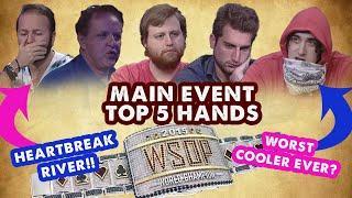 2015 WSOP Main Event - Top 5 Hands   World Series of Poker