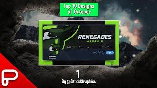 Top 10 Designs for the month of October!