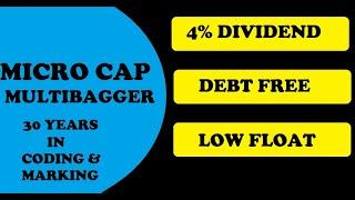 MircoCap High Dividend Stock with Multibagger Potential