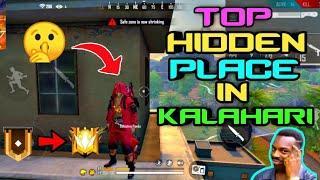 New Top 10 Secret Hiding/Hidden Place in Kalahari Map #3 - Garena Free Fire // Dynamatic Gaming