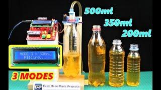 DIY 3 Mode Automatic Bottle Filling Machine using Arduino