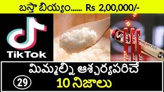 Top 10 Unknown Facts in Telugu | Interesting and Amazing Facts | Part 29 | Minute Stuff