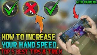 HOW TO INCREASE YOUR HAND SPEED TOP 5 BEST TIPS & TRICK