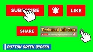 Top 50 Green Screen Animated Subscribe Button  by My Technical talk guru For new YouTuber