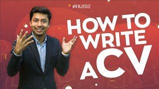 How to Write a CV   Study Tips   Sadman Sadik