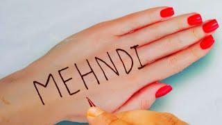 Mehndi letter mehandi design|Easy & simple mehandi design for back hand|New beautiful mehndi design