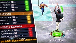 How To Make The BEST SHOOTING GLASS CLEANING LOCKDOWN BUILD ON NBA 2K20 FOR PARK CBOY DEMIGOD BUILD