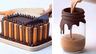 Awesome Chocolate Cake Decorating Ideas for Party   Most Satisfying Cake Recipe   So Tasty Cakes