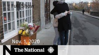 CBC News: The National | 2 dead in Quebec City stabbings; U.S. election's final days | Nov. 1, 2020