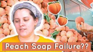 Life's a Peach Cold Process Soap (Katie doubts herself for 15 minutes straight) | Royalty Soaps