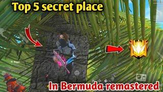 TOP 5 NEW HIDDEN PLACES IN BERMUDA 2.0 | Hidding Places in Bermuda Remastered Map-Garena free fire