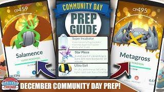 START NOW! TOP PREP TIPS FOR SHINY *DECEMBER* COMMUNITY DAY - 1/2 EGG HATCH 2X STARDUST   POKÉMON GO