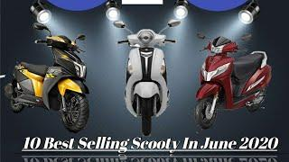 Top 10 Selling Scooty in the Month on June 2020.||
