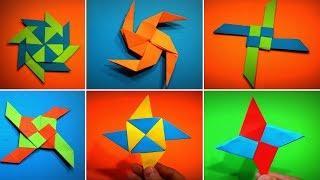 TOP 10 Origami Ninja Star   How to Make a Paper Ninja Star DIY   Easy Origami ART Paper Crafts