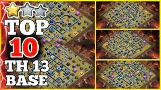 TOP 10 NEW TH13 WAR BASE || TH13 CWL Base Link Given In Video Description (August CWL Base)