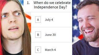 English guy takes American citizenship test vs American