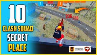 TOP 10 CLASH SQUAD SECRET PLACE IN FREE FIRE || CLASH SQUAD RANK TIPS AND TRICKS IN FREE FIRE