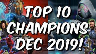 Top 10 Champions Dec 2019 - Beyond God Tier Game Changers - Marvel Contest of Champions