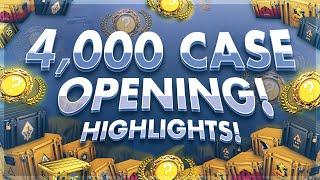 KNIFE HIGHLIGHTS : 4000 CASE OPENING STREAM