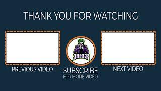 TOP 10 YouTube End Screen Template (Outro Template) For Free No Copyright | Easy to Use