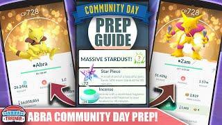 START NOW FOR INSANE DUST! TOP TIPS FOR SHINY *ABRA* COMMUNITY DAY - 3X DUST & ALAKAZAM   POKÉMON GO